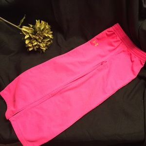 Under Armour Girls Pink Polyester Pants-Size: 4